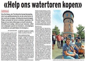 Operatie Watertoren in Het Laatste Nieuws van 7 september 2013