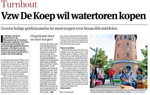 Operatie Watertoren in Gazet van Antwerpen op 7 september 2013